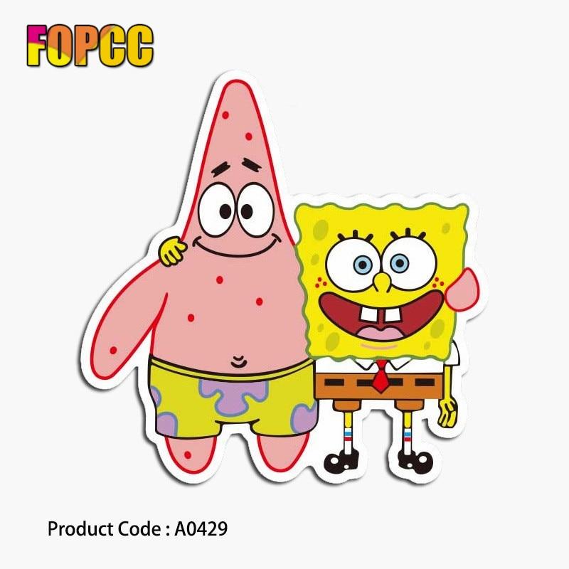SpongeBob Cartoon Cute Stickers For Children Kids Laptop Moto Car Guitar Luggage Skateboard Bicycle Waterproof PVC Stickers