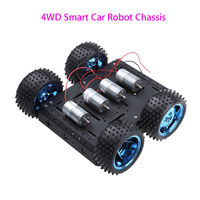 Keyes 4WD Aluminum Alloy Smart Car Chassis Electronic DIY Kit For Arduino Professional Free Shipping