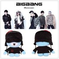 2016 kpop bigbang G-Dragon made GD cute cuddly teddy series Chuck Doll Toy bts exo k-pop blue teddy bears Animal Figure