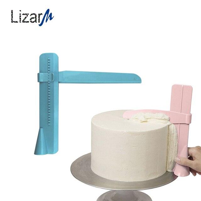 Cake Verstelbare Schraper Plastic Pastry Spatels DIY Decoratie Bakvormen Accessoires Bakken Gereedschap Rand Kant Soepeler Polijstmachine