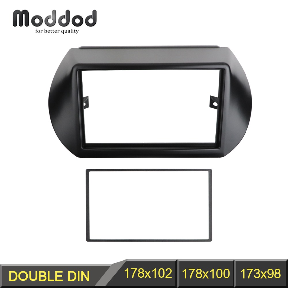 2 Din Radio Fascia for Citroen Nemo Peugeot Bipper Fiat Fiorino Qubo 2008+ GPS-navigering DVD Audio Dash Mount Trim Kit Frame