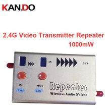 1 W CCTV servidor de transferência 2.5G 2.3G 2.4G repetidor repetidor 2.4G sem fio de áudio e vídeo transmissor zangão 2.5G 2.4G repetidor para FPV