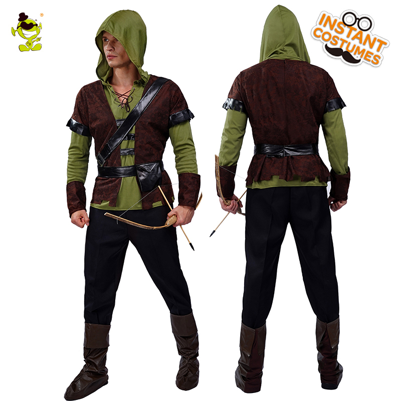 Men's Robin Hood Costume Role Play Halloween Party Adult Robin Clothing Costumes