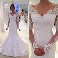 Vestido De Novia Casamento Bridal Gowns 2017 New Hot Long Sleeves Sweetheart Amazing Good Looking Mermaid Style Wedding Dresses