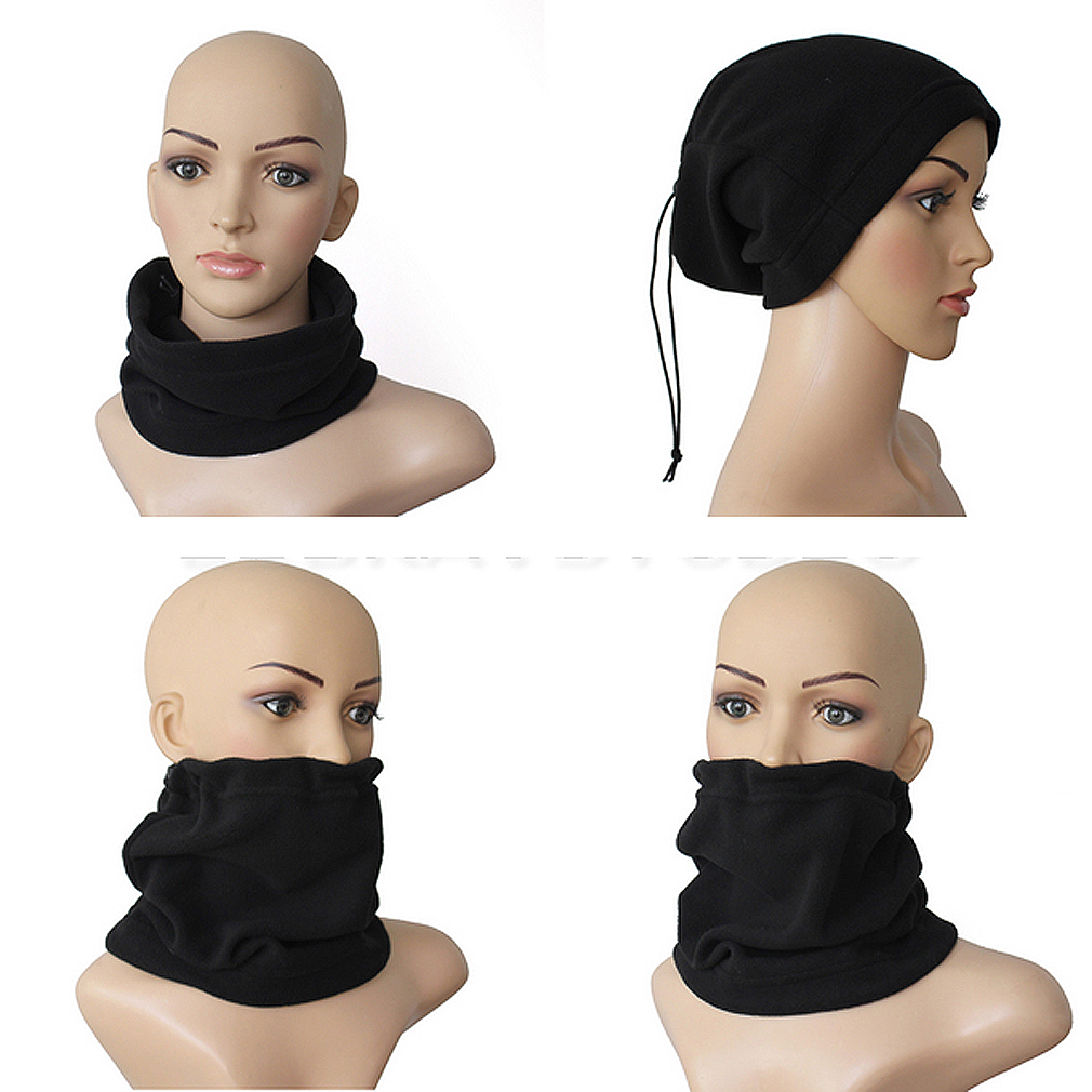 2018 Hot New Unisex 3-in-1 Multipurpose Polar Fleece Snood Hat Women Men Neck Warmer Wear Scarf Beanie Balaclava 3 Colors
