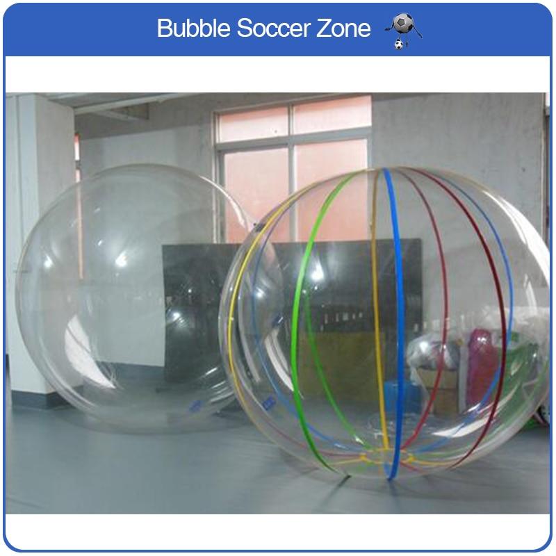Livraison gratuite 2 m gonflable eau Sport marche boule d'eau en plastique tente eau piscine pastèque balles