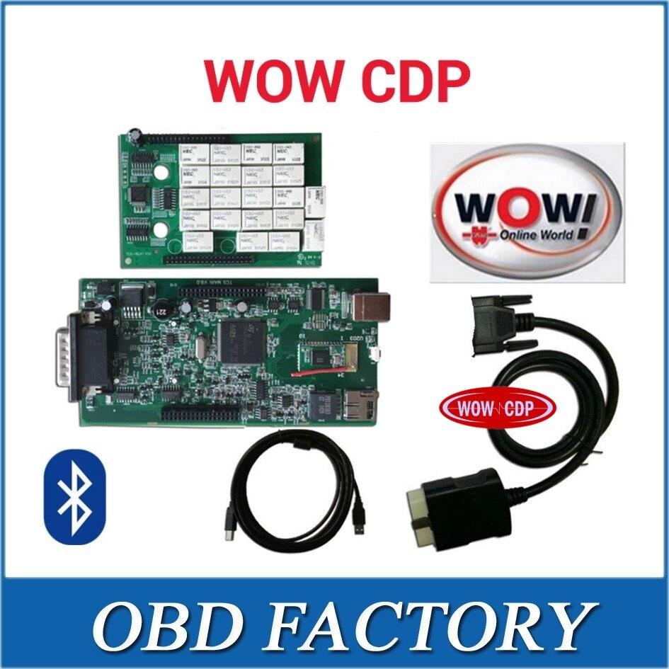 Цена за 10 шт./лот погружены DHL Bluetooth выпустила WOW CDP V5.008 R2 бесплатная Активизированный программного обеспечения VD TCS CDP с дом окно для WOW CDP