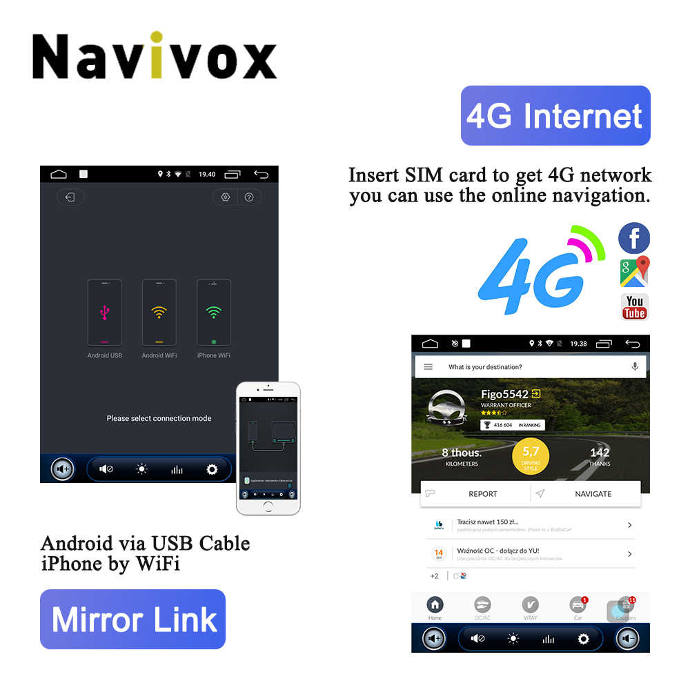 Navivix 10,4 ''автомобильный dvd-плеер Android 6,0 gps навигация для Opel Insignia Vauxhall Holden CD300 CD400 2009-2016 радио