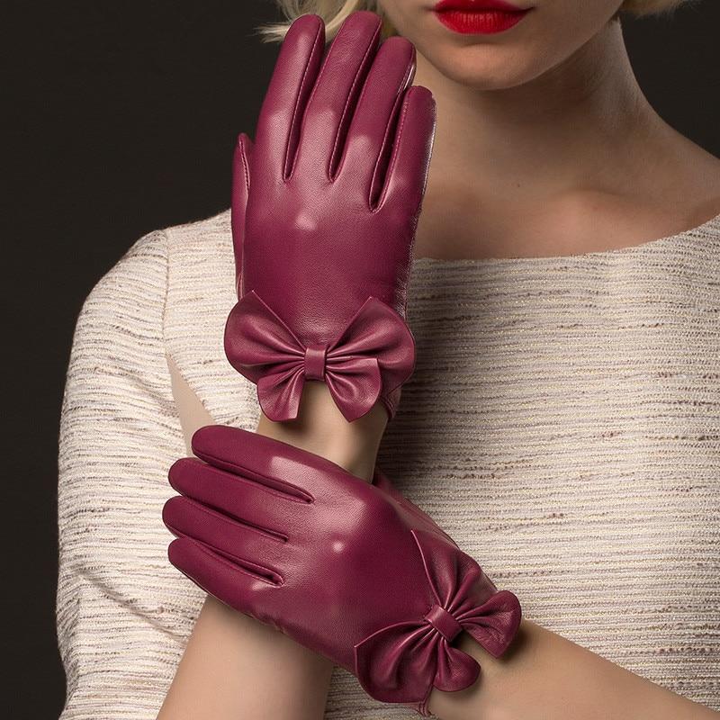 Resultado de imagen para guantes de cuero mujer