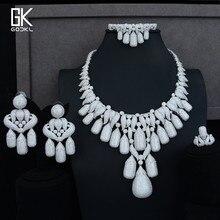 GODKI, супер роскошные кисточки, 4 шт., нигерийские Ювелирные наборы для женщин, для свадьбы, с кубическим цирконием, с кристаллом, из кубического циркония, из Дубаи, комплект свадебных ювелирных изделий