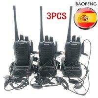 מכשיר הקשר 3pcs Baofeng BF-888S מכשיר הקשר BF 888s Ham Radio האוזניות 5W 400-470MHz UHF FM משדר רדיו דו כיווני Comunicador (1)
