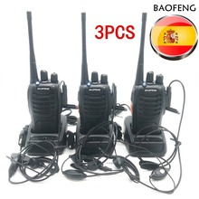 цена на 3pcs Baofeng BF-888S Walkie Talkie BF 888s Ham Radio Earpieces 5W 400-470MHz UHF FM Transceiver Two-Way Radio Comunicador