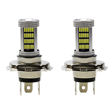 2pcs H4 LED Fog Light Bright White LED HeadLight Lamp Bulb DC12V 92SMD 4014 30W DRL