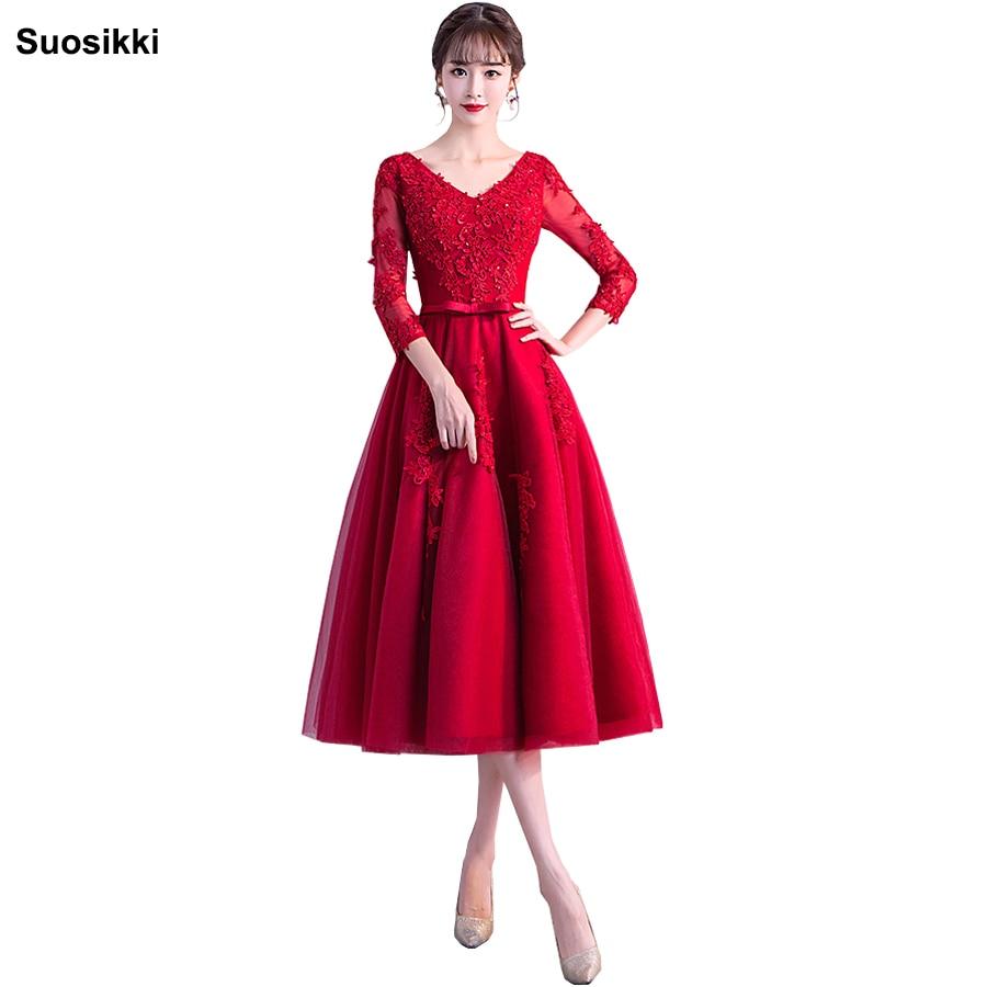 Long Sleeves Beaded Evening Dresses Party Elegant Gowns  Tulle A Line Vestidos De Festa Vestido Longo Robe De Soiree 2018 New