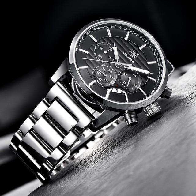 2020 BENYAR Top Brand Luxury Men's Watches Casual Fashion Chronograph Sports Military Quartz Wrist Watch Clock Relogio Masculino 4