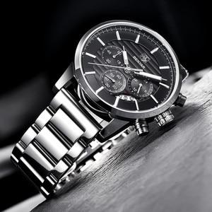 Image 4 - 2020 BENYAR למעלה מותג יוקרה גברים של שעונים מקרית אופנה הכרונוגרף ספורט צבאי קוורץ שעון יד שעון Relogio Masculino