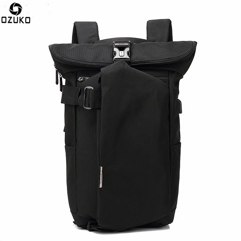 Ozuko New Leisure Oxford Cloth Backpack Men Fashion Personality Solid Shoulder Bag Unisex Casual USB Charging Travel BagOzuko New Leisure Oxford Cloth Backpack Men Fashion Personality Solid Shoulder Bag Unisex Casual USB Charging Travel Bag