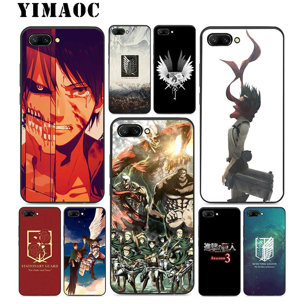 YIMAOC Titan 3 Sezon silikon kılıf Için Huawei Onur Mate 10 P20 P10 P9 P8 P Akıllı Y6 6A 7A 7X 7C Lite Pro 2017 2018
