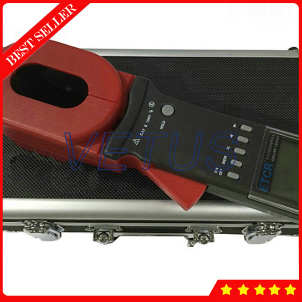 ETCR2000A+ Digital Clamp On Ground Earth Resistance Tester Meter 0.01-200 ohm 99 Sets Stored Data With Alarm Function