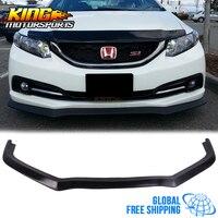 Fit 13 15 Honda Civic CS Стиль переднего бампера для губ Неокрашенный PU (поли уретан) глобальный Бесплатная доставка по всему миру