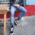 Viishow Hombres de Marca Pantalones Vaqueros de Diseño Pantalones Casuales Agujero Hombres Regulares Largas Jeans para Hombre Recto Jeans para Hombres NCZ8263