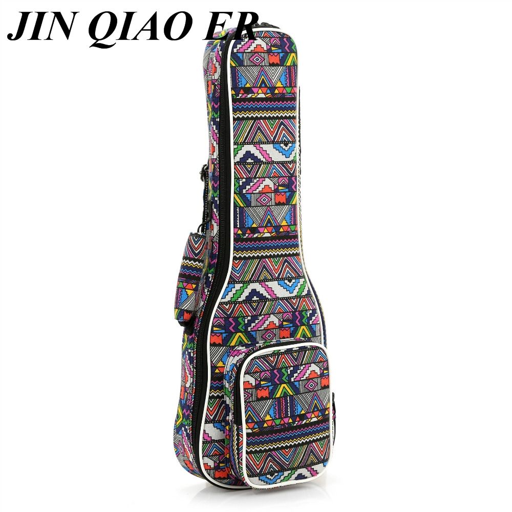 Soprano Ukule Portable 21Inch Cotton Nylon Padded Bass Guitar Gig Bag Ukulele Case Box Guitarra Cover Backpack With Double Strap