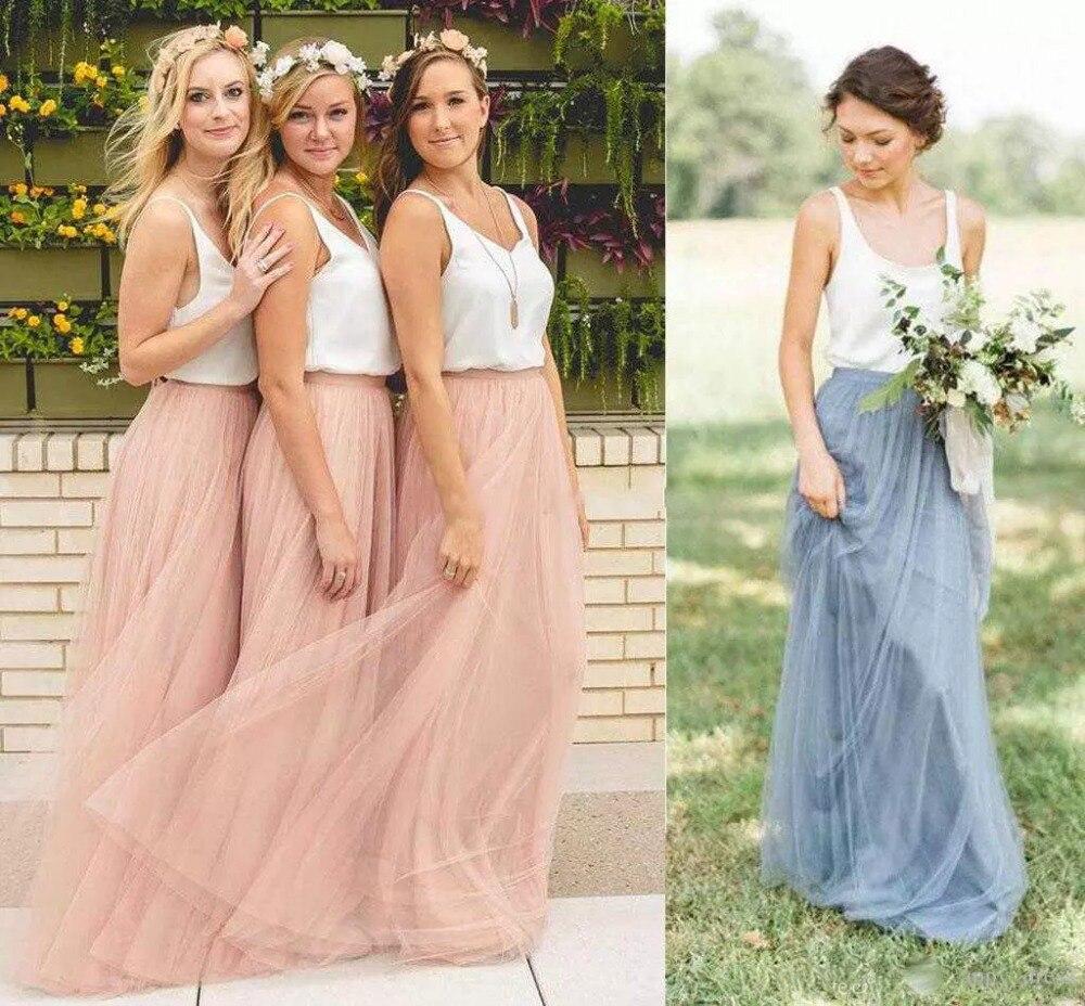 Vestidos Saias Femininas Long Tulle Skirts Maxi Skirt Elastic Band Multi Layers Floor Length Bridesmaid Long Skirt Hot Sale