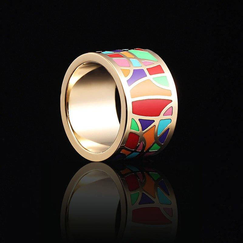 2018 Novi dolasci Moda Vintage Big prstenovi od nehrđajućeg čelika za žene Šarene dizajn nakit nakit Trendy Party Hot