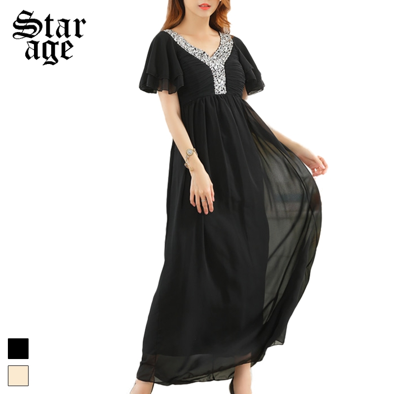 Detail Feedback Questions about M Xxxl Luxury Beaded V Neck Chiffon Formal  Dresses Plus Size Maxi Long Ruffle Sleeve Party Dress For  Dinner Dancing Ball ... 328ca4a5cfb2