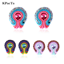 KPacTa Handmade Soutache D Earring Ethnic Style Jewelry Female Crystal Decoration Earring Banquet Accessories boucle d'oreille цена