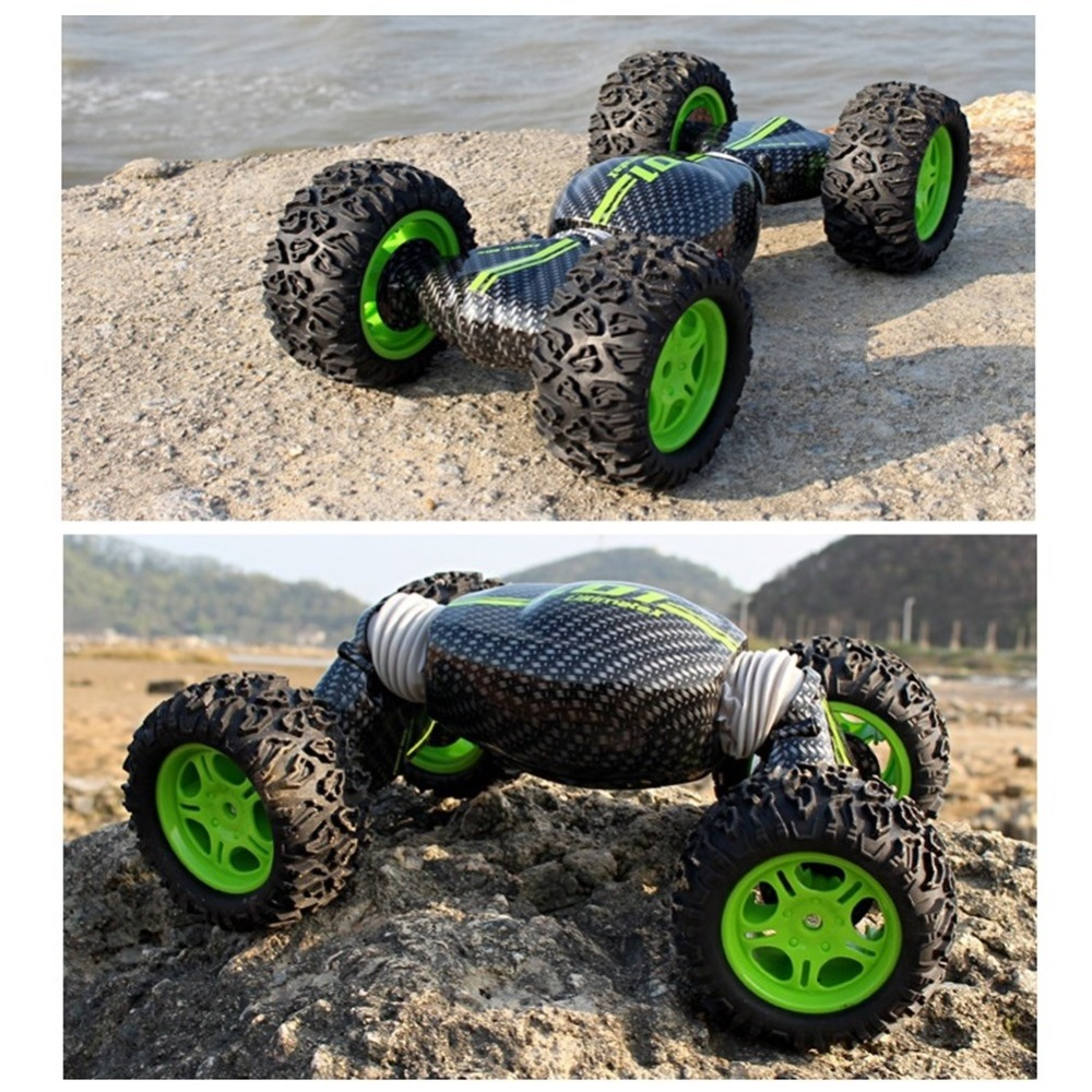 RC Car 4WD Truck Double-sided One Key Transformation All-terrain Vehicle Varanid Climbing Car Remote Control Toys 1:16 Scale