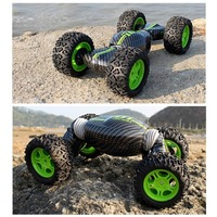 RC Car 4WD Truck Double sided One Key Transformation All terrain Vehicle Varanid Climbing Car Remote Control Toys 1:16 Scale