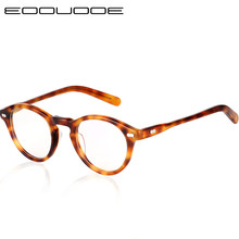 Acetate Optical Glasses Frame Men Vintage Round Eyeglasses Myopia Prescription Women  Eyewear Oculos grau