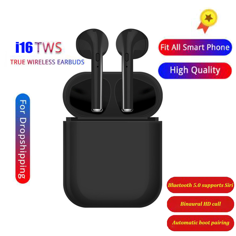 Upgrade i16 <font><b>TWS</b></font> Wireless Earphones <font><b>Bluetooth</b></font> <font><b>5.0</b></font> Earbuds 3D Stereo Bass in-ear Headset with Mic Binaural Call PK i10 <font><b>i11</b></font> i12 i13 image