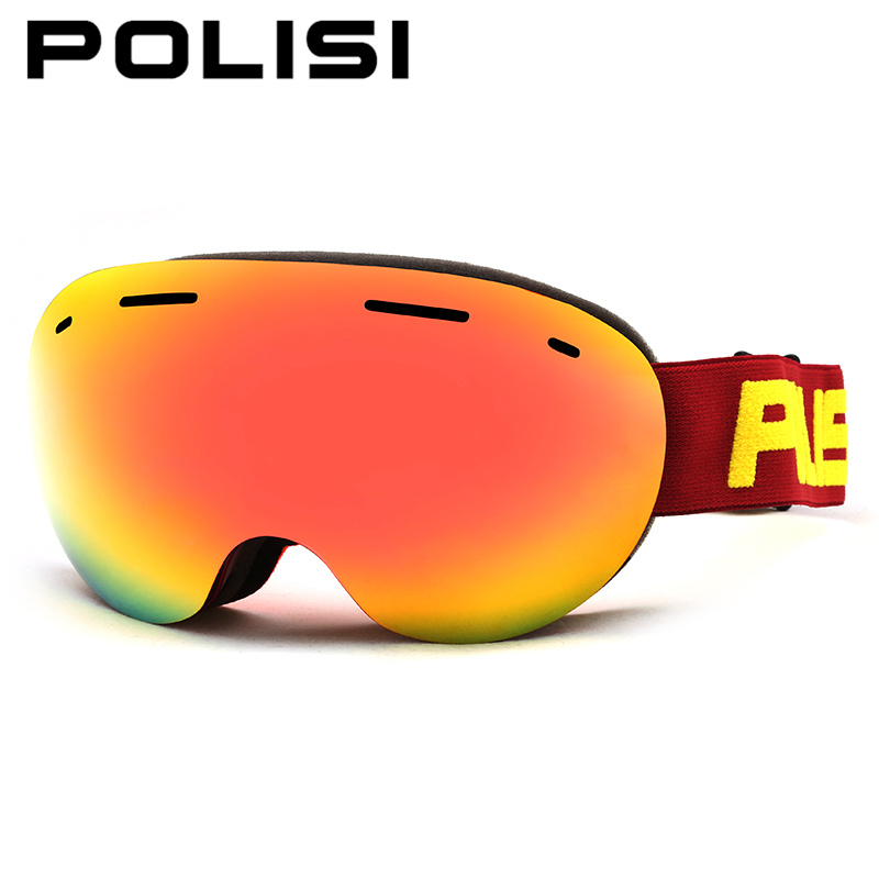 POLISI Winter Ski Snow Snowboard Snowmobile Goggles Double Layer Anti-Fog Lens Eyewear Men Women UV400 Skiing Skate Glasses купить
