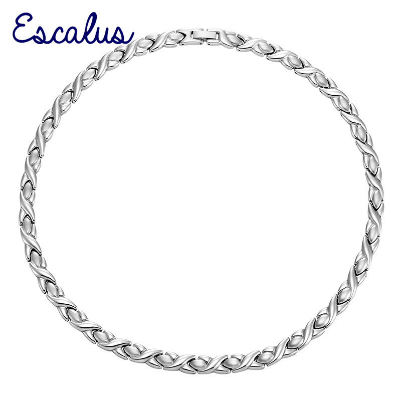 Escalus Bio Choker Women Stainless Steel Magnetic Necklace