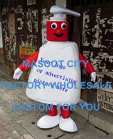 Adult Size Antibacterial Child Handwashing Sanitizer Liquid Soap Mascot Costume Educational Mascotte Fancy Dress SW1214