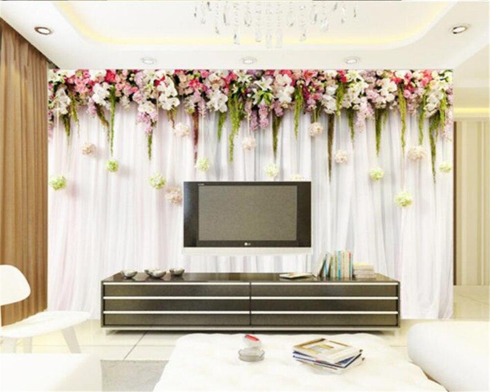 Beibehang wallpaper for walls 3 d flowers vine flavor summer wedding decorations wallpaper papel de parede 3d wallpaper murals