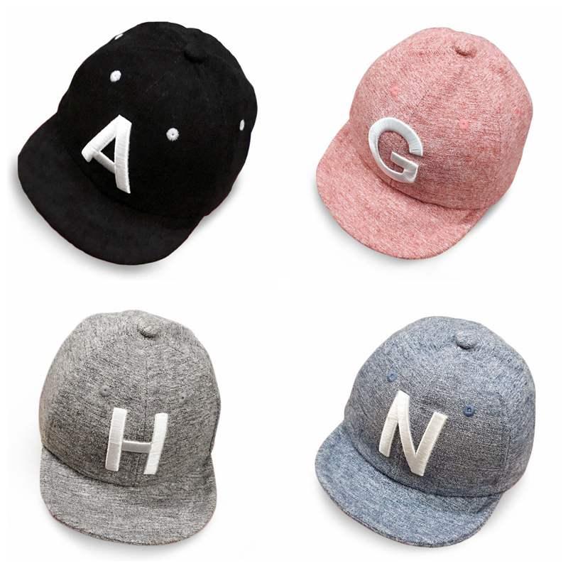 Winter Autumn Cotton Baby Letter Cap Baby Kids Boy Adjustable Baseball Caps Boys Girl Hats Children Snapback Hip-Hop Sun Hat