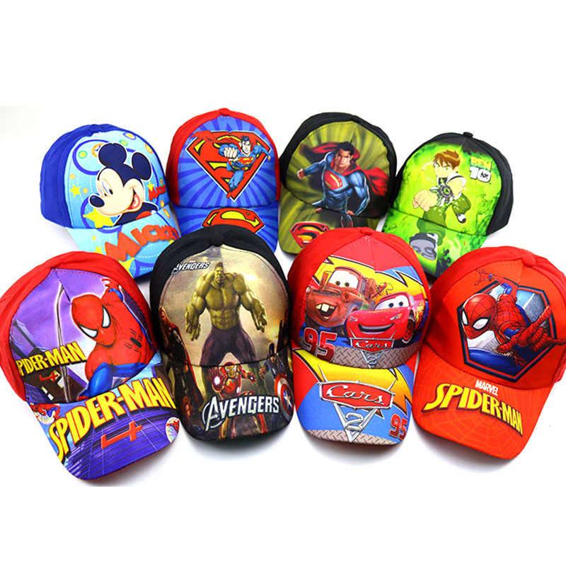 Children Cartoon Baseball Hat Mouse Kids Hat Boys and Girls Black White Adjustable Baseball Caps Outdoor Sunscreen Hat