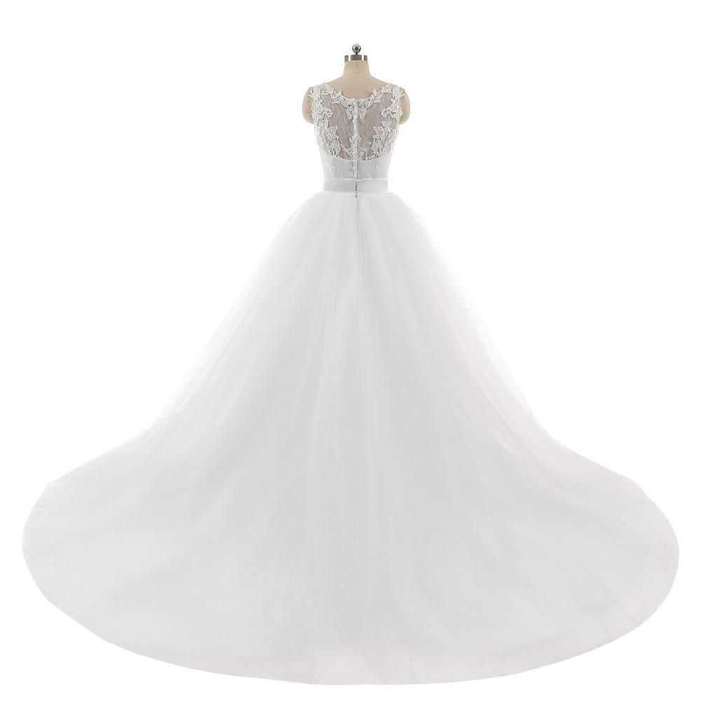 Liebhaber Kuss Sexy Zwei In Einem Hochzeitskleid 2 Stücke Sleeveless ...
