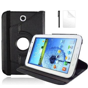 Funda de cuero PU con giro de 360 grados para Samsung Galaxy Note 8,0, GT-N5100, GT-N5110, funda para Tablet de 8,0 pulgadas + película + bolígrafo