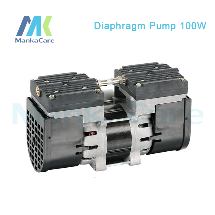 Manka Care - 110V /60HZ(AC) 24L/MIN 100 W Medical Diaphragm Vacuum Pump/Silent Pumps/Oil Less/Oil Free/Compressing Pump manka care 110v 220v ac 50l min 165w small electric piston vacuum pump silent pumps oil less oil free compressing pump