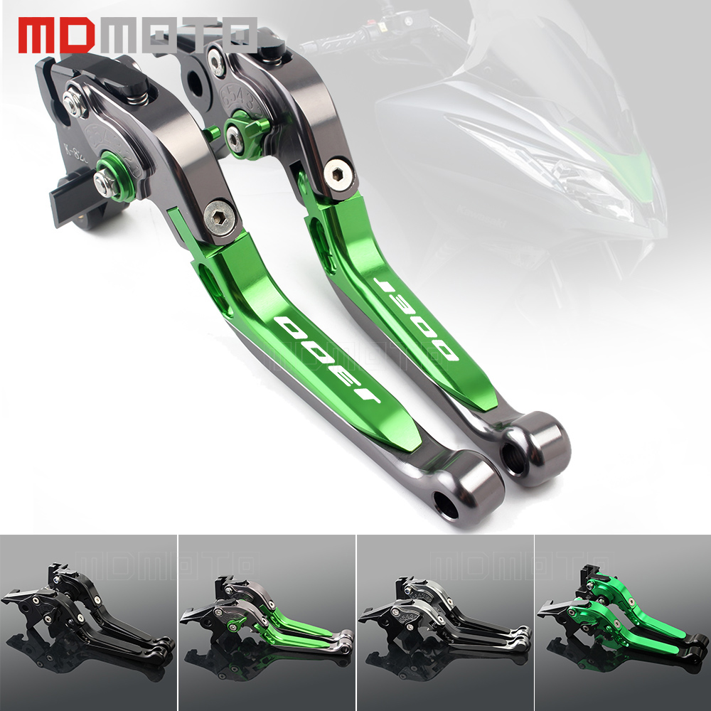 Motorcycle Brakes Clutch Levers For For Kawasaki J300 2014-2017 2018 CNC Adjustable Foldable Extendable Motorbike Brakes Clutch bjmoto motorcycle adjustable cnc aluminum brakes clutch levers set motorbike brake for kawasaki z800 e version 2013 2016