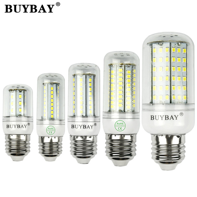 220V-240V LED Lamp E27 SMD 2835 LED Corn Light E14 LED Bulb 27/48/68/102/126LED Chandelier candle spotlight free shipping