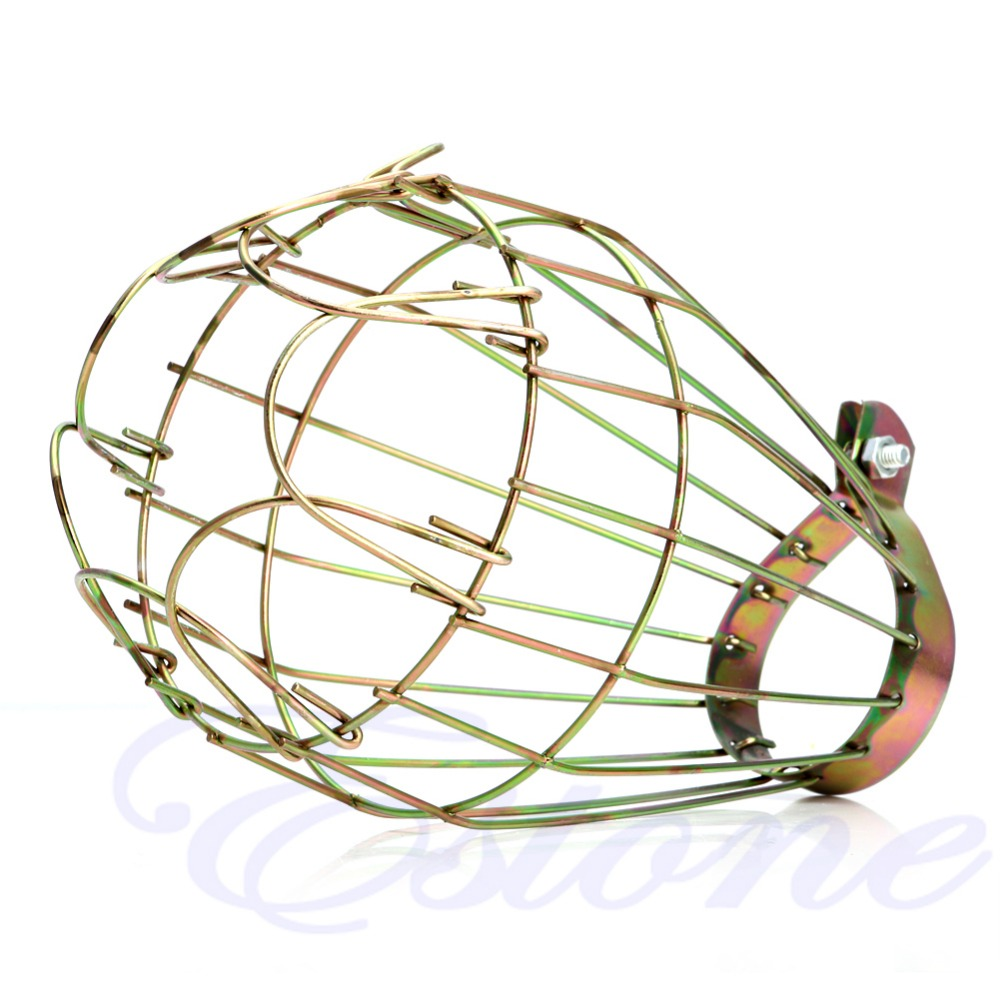 Durable and Safe Industrial Retro Iron Wire Guards Bulb Clamp Metal Lamp Cage Trouble Light YF