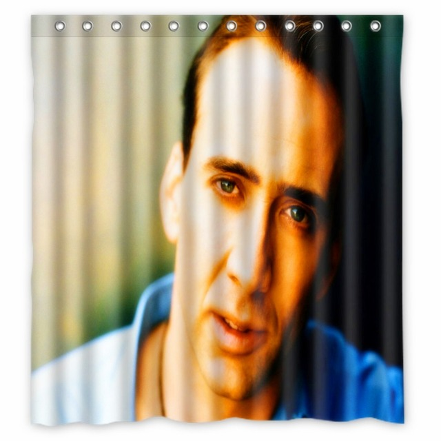 Vixm Home Nicolas Cage Shower Curtains Modern Star Fabric Bathroom With Hooks 66x72 Inch
