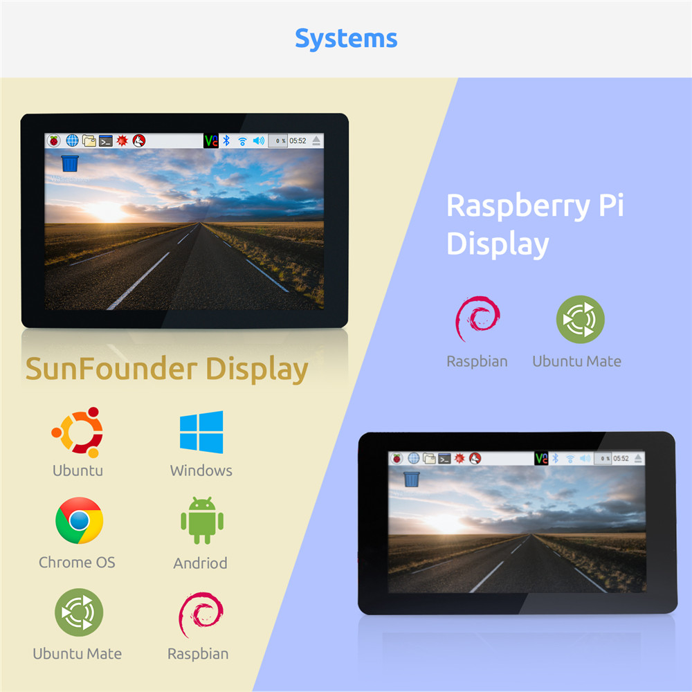 Image 3 - SunFounder 10.1 IPS LCD Touch Screen Display Monitor HDMI 1280*800 for Raspberry Pi 3B+ 3B 2B  LattePanda Beagle Bone-in Demo Board Accessories from Computer & Office