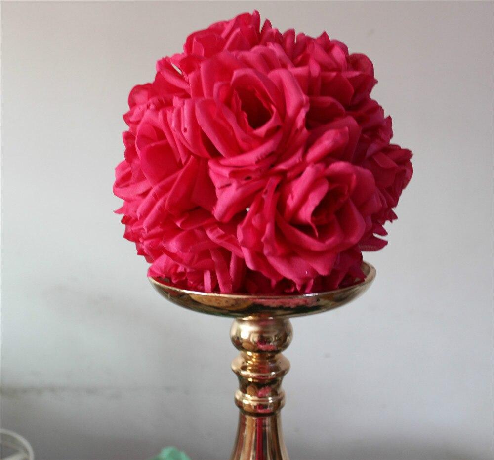 SPR 15cm / 6 인치 웨딩 장식 실크 키스 Pomander 장미 꽃 조화 공 플라워 송료 무료