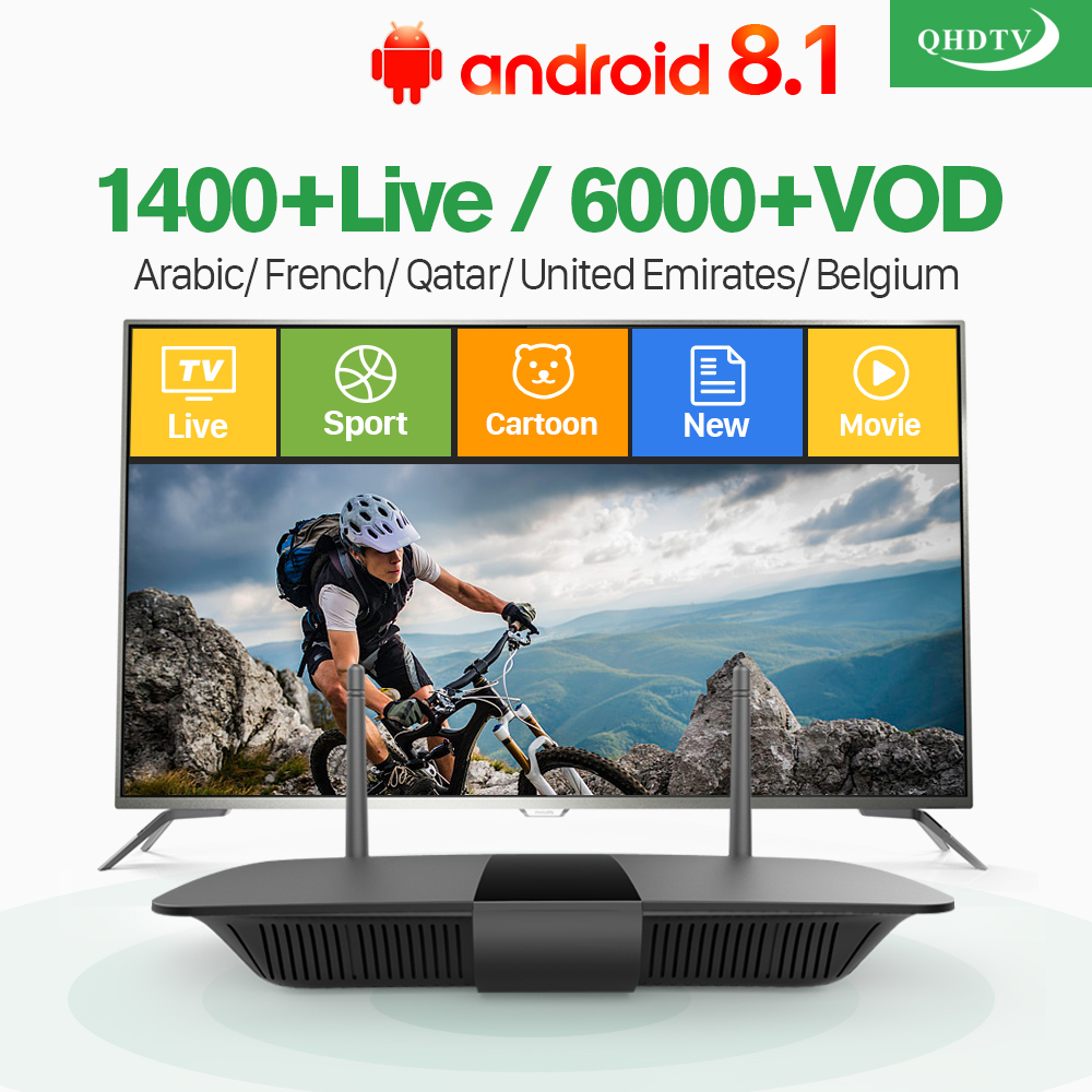 Iptv French Android 8.1 Smart TV Box Media Player RK3229 QHDTV IP TV Subscription IPTV Europe Netherlands French Arabic IPTV Box dalletektv android smart tv box 1 year free qhdtv iptv channels arabic europe italia iptv french set top box media player